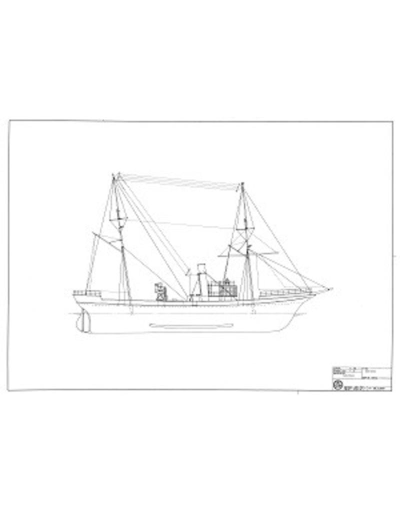 """NVM 10.11.045 HrMs politievaartuig der Noordzeevisserij """"Zeehond"""" (1892)"""