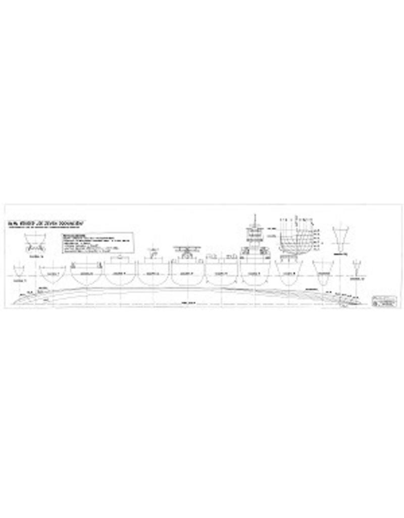 """NVM 10.11.088 HrMs Kruiser """"de Zeven Provinciën""""; oorspronkelijk ontwerp 1939"""