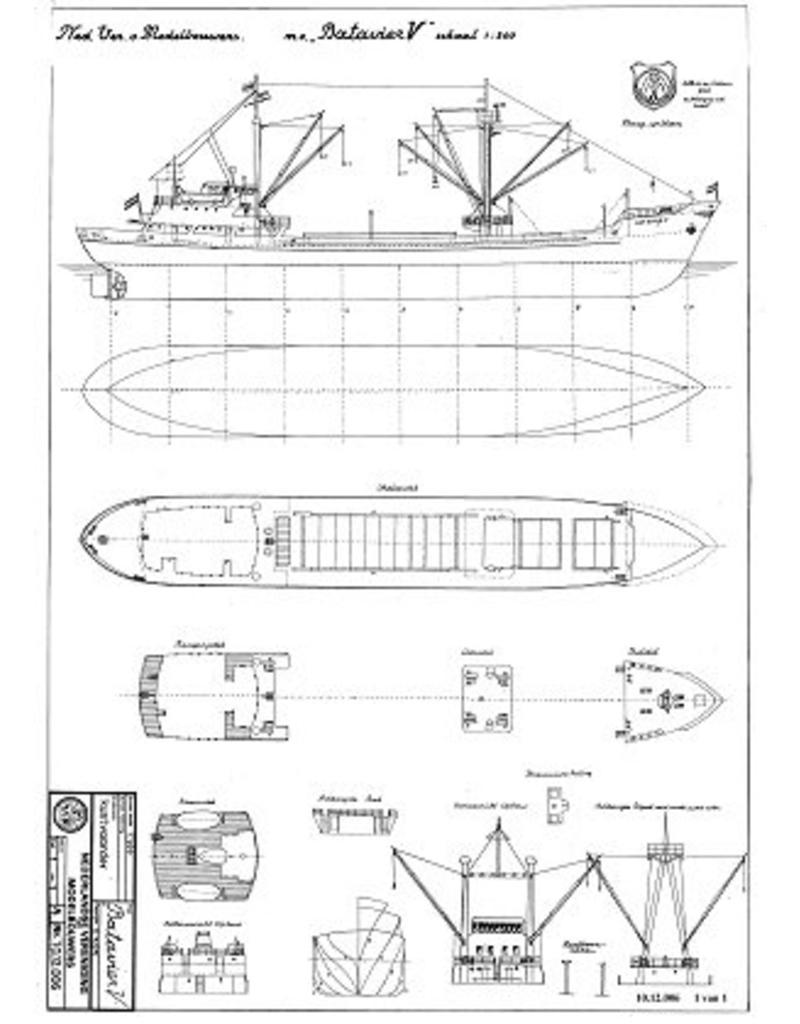 """NVM 10.12.006 kustvaarder ms """"Batavier V"""" (1959) - Wm.H. MÌ_ller & Co."""
