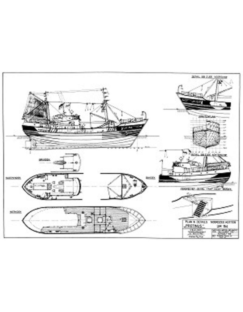 "NVM 10.13.012 motortrawler ""Protinus"" IJM 154 (1959) - Rederij Erenst"