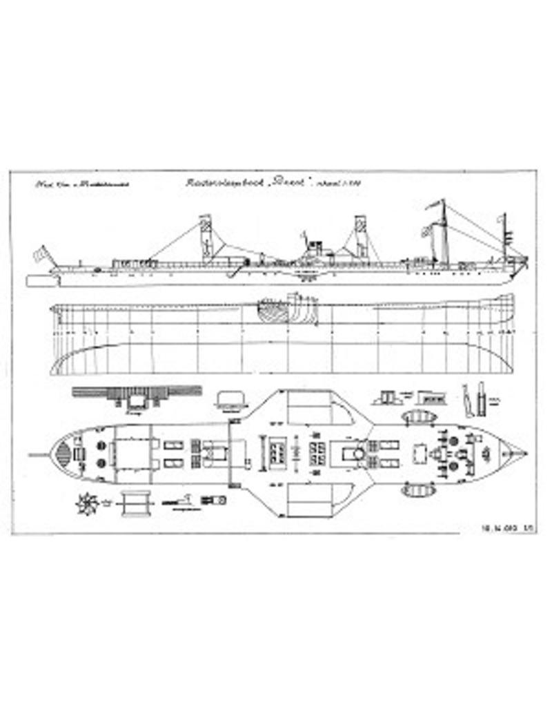 """NVM 10.14.010 Rijn-radersleepboot ss """"Brest"""" (1924) - CFNR, Strassbourg"""