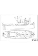 """NVM 10.14.060 Thames sleepboot ss """" Cervia"""" (1946) - Watkins (1947); ex """"Empire Raymond"""" - Min.War Tr."""