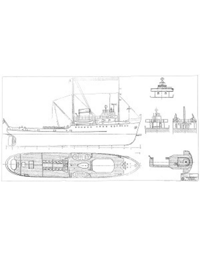 """NVM 10.14.066/A Zeesleepboot ms """"Oostzee"""" (1954) - L. Smit & Co's Internationale Slpdnst Mij"""