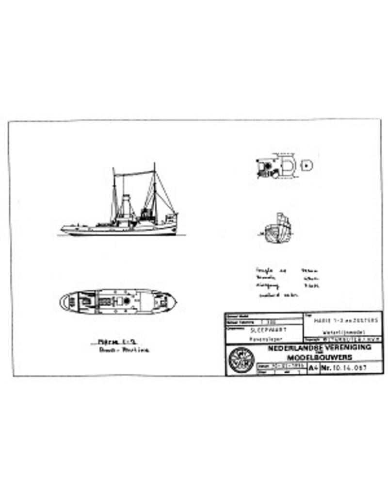 """NVM 10.14.067 havensleper ss """"Maria 1 en 2"""" (1915, 1917)"""