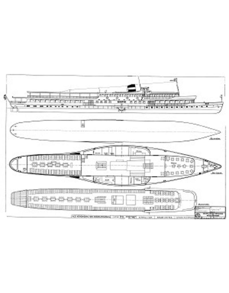 """NVM 10.15.005 Rijn-raderpassagierschip ss """"Goethe"""" (1913), na verlenging (1949) - KÌÎå_ln DÌÎ_sseldorfer GmbH"""