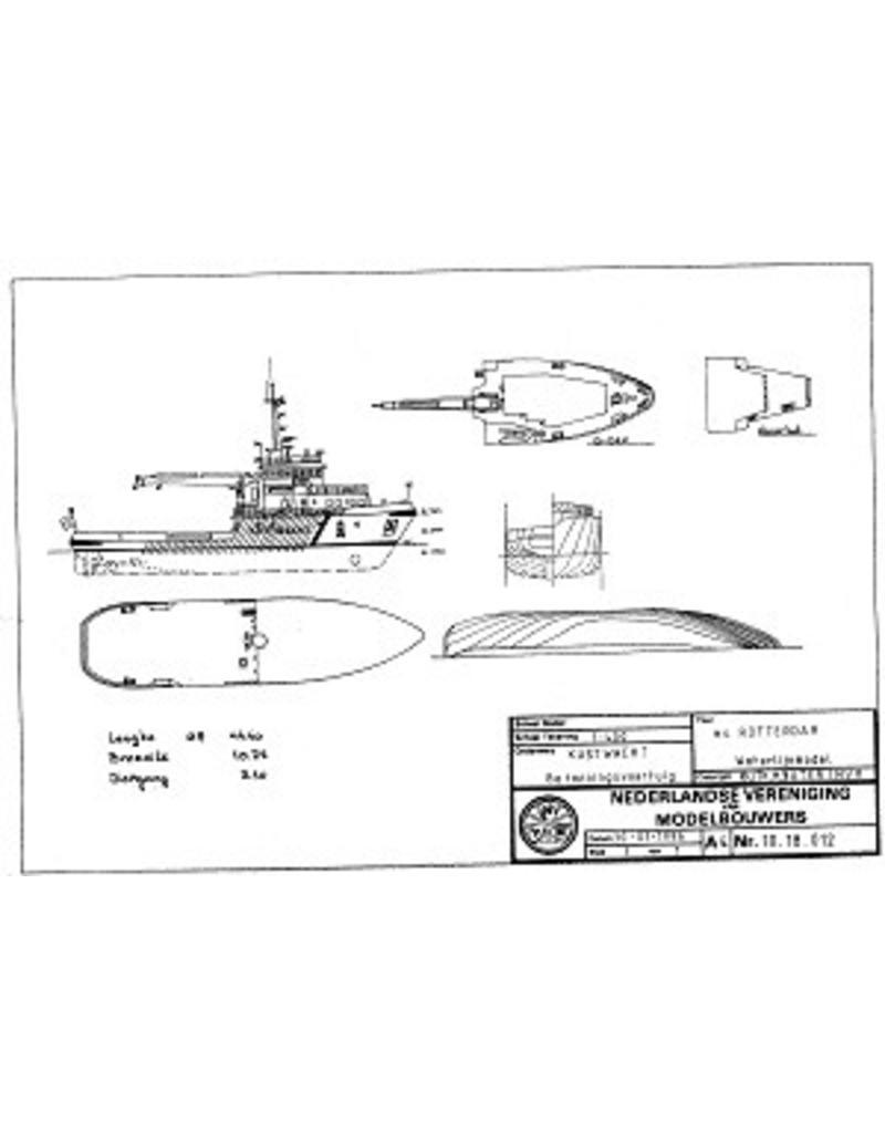 """NVM 10.18.012 betonningsvaartuig ms """"Rotterdam"""" (1987) - RWS"""