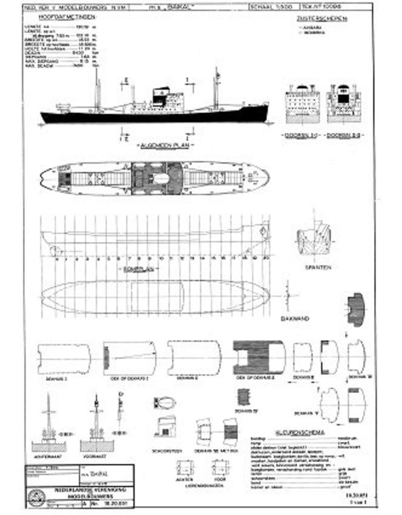 "NVM 10.20.051 vrachtschip ms "" Baikal"" (1957) - Sudoimport; ""Angara"", ""Indigirka"""