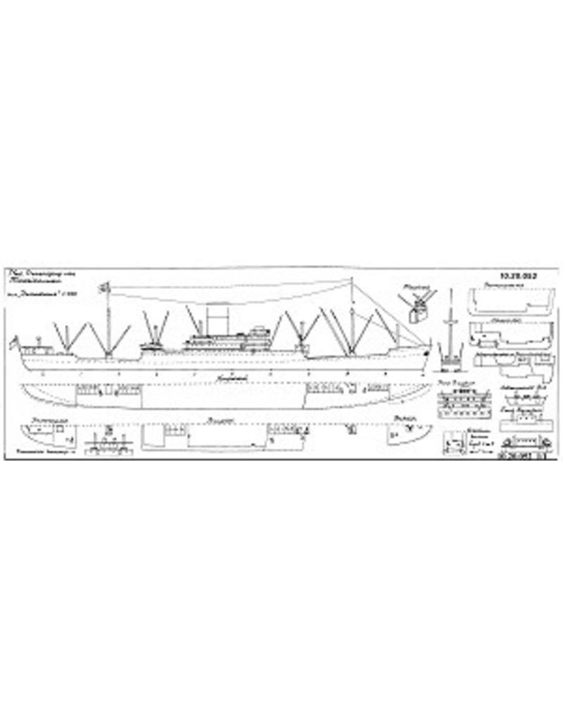"NVM 10.20.052 vrachtschip ms ""Demodocus"" (1955) - Alfred Holt"
