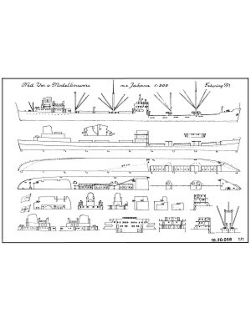 "NVM 10.20.058 vrachtschip ms ""Jakara"" (1954) - Anders Jahre & Co"