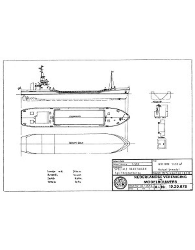"""NVM 10.20.078 1300 m3 hopperbarge """"Boeroe"""""""