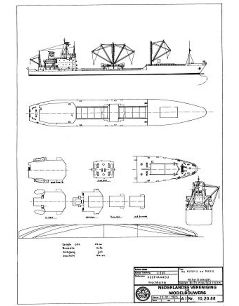 "NVM 10.20.088 vrachtschip ms "" Mashu Maru"" (1986)"