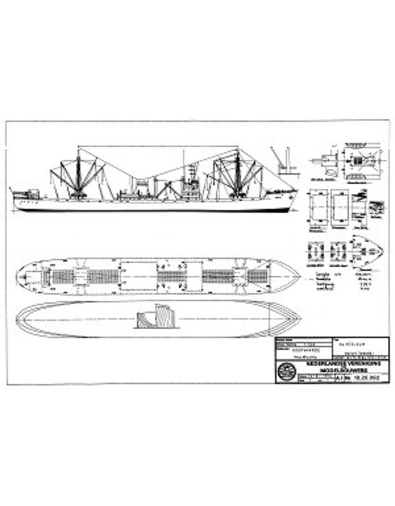 """NVM 10.20.092 vrachtschip ms """"Heelsum""""- Mij. Oostzee"""
