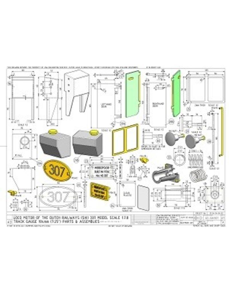 """NVM 20.02.014 CD - Locomotor NS 307 voor 7,25"""" en 10"""" spoor"""