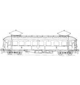 NVM 29.03.231 El. motorrijtuig 2e klasse met bagage afdeling BD 9151-9161 voor Spoor 0