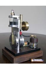 "NVM 60.10.027 Drukgestuurde 2-taktmotor ""Sabine"" Mk2, met glazencilinder"