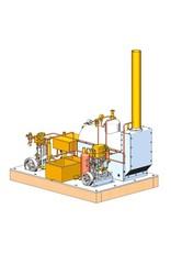 NVM 60.01.008/A Stoominstallatie met 2 vertikale machines, ketel en hulpwerktigen