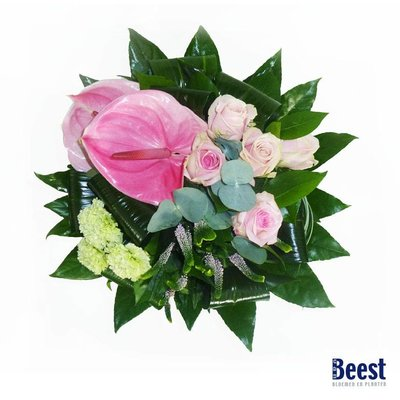 Boeket anthurium Roze