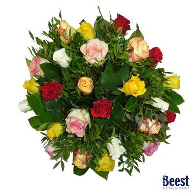 Boeket gemengde rozen kleinbloemig