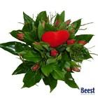 Tulpenboeket rood met hartje