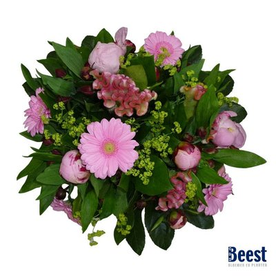 Boeket pioenrozen roze