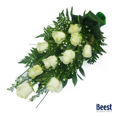 Rouwboeket rozen