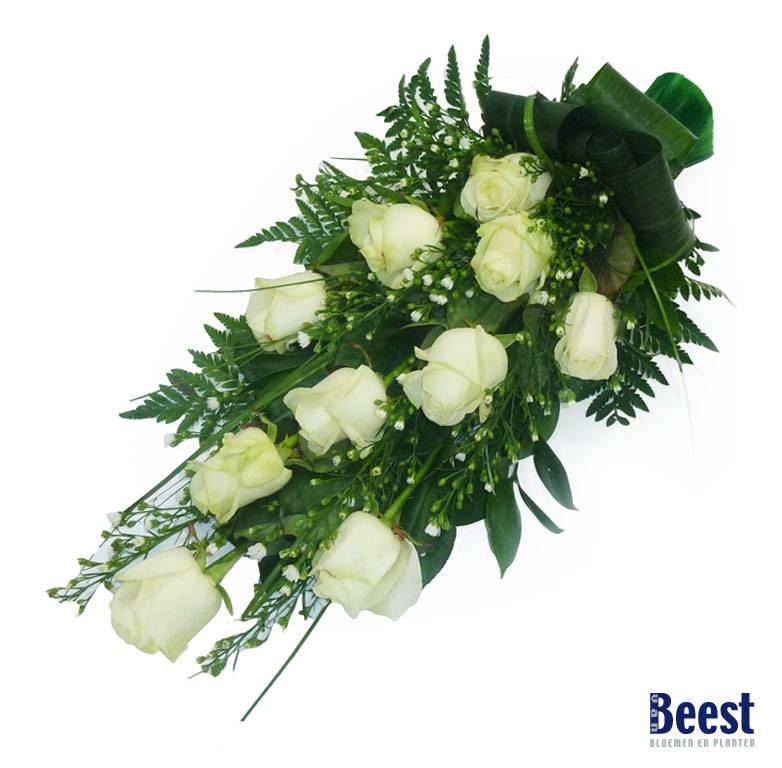 Super Rouwboeket rozen - Van Beest Bloemen en Planten FH-17