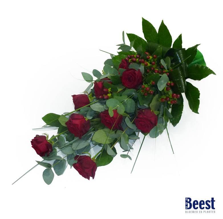 Beroemd Rouwboeket rode rozen - Van Beest Bloemen en Planten WJ-52