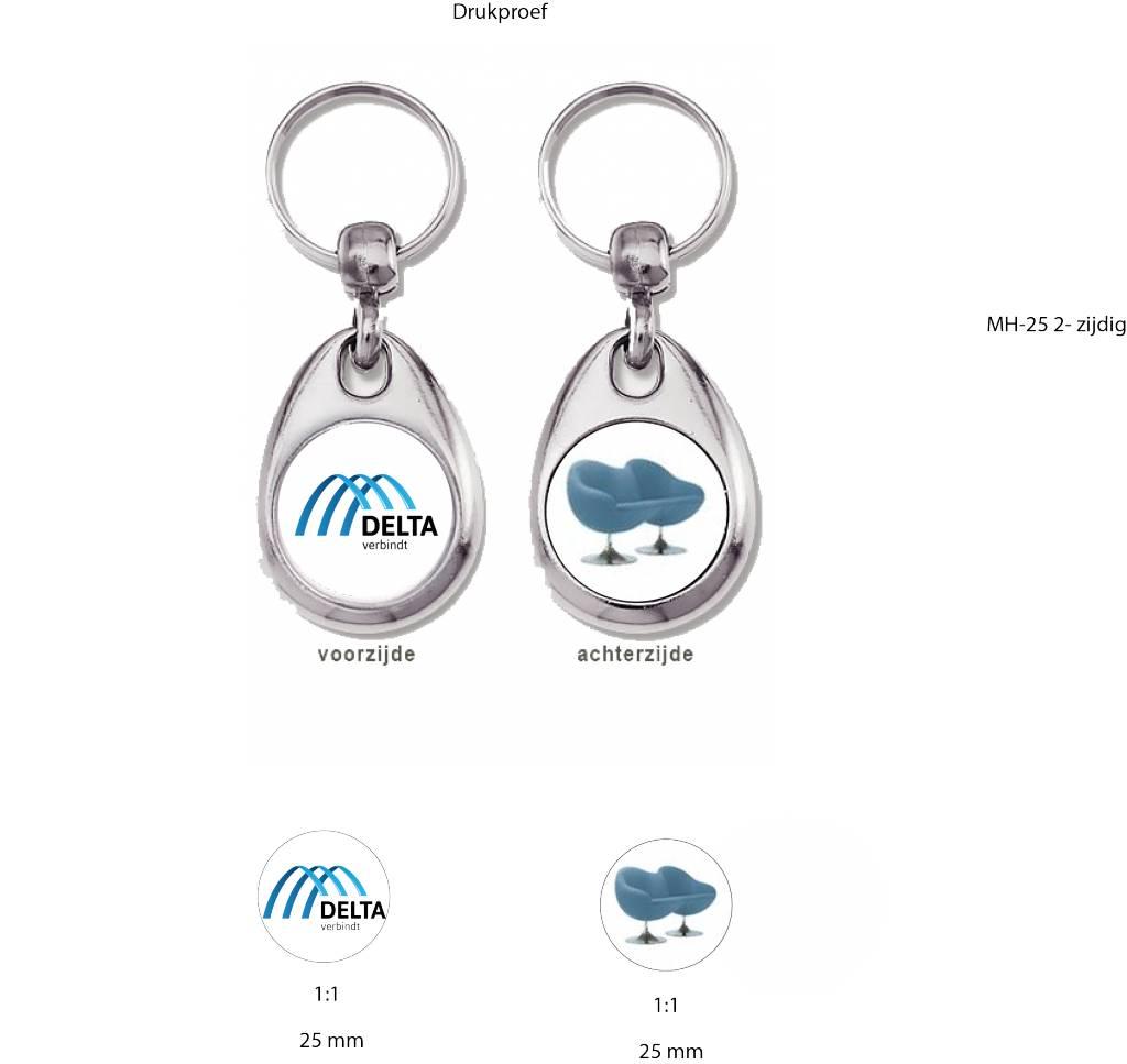 Sleutelhanger Tweezijdig metaal