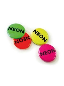 100 mm Button neon effect vanaf