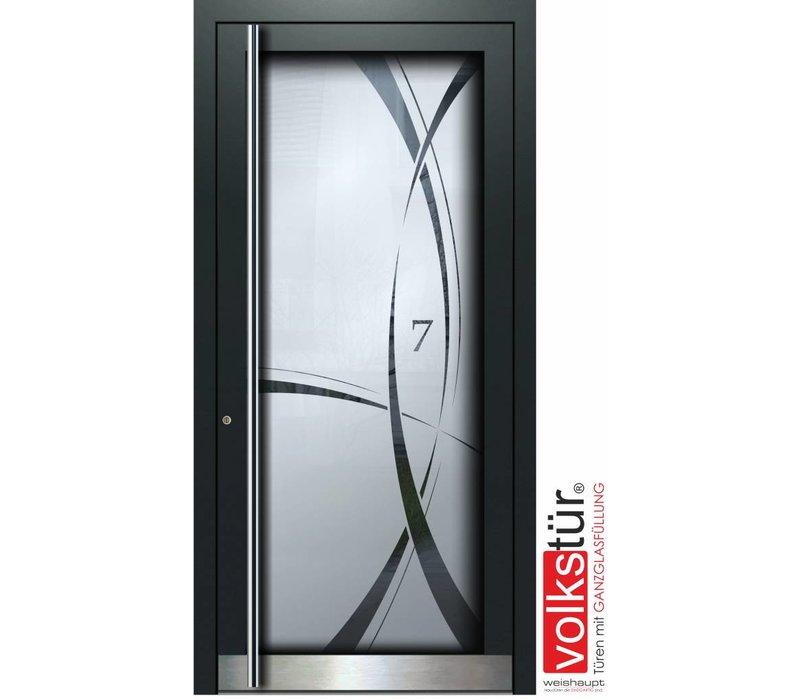 Weishaupt Aluminium Ganzglas Haustür Modell Entra Line 5307
