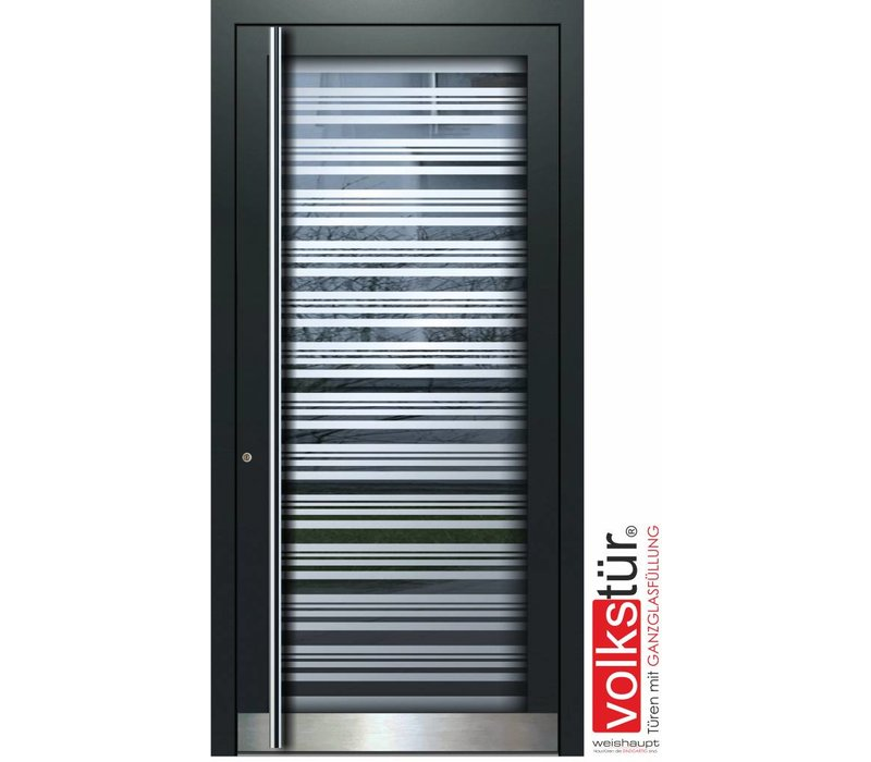 Aluminium Haustüren mit Ganzglasfüllung, exklusive Maßanfertigung -