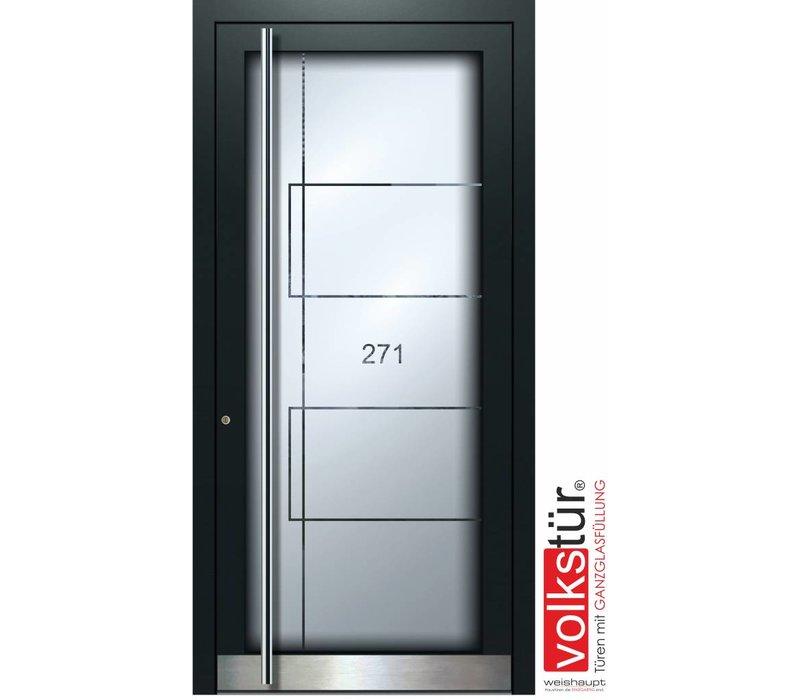 Weishaupt Aluminium Ganzglas Haustür Modell Entra Line 5313