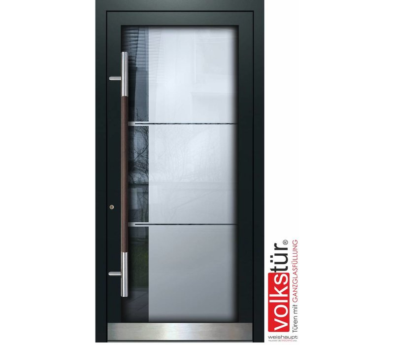 Weishaupt Aluminium Ganzglas Haustür Modell Entra Line 5314