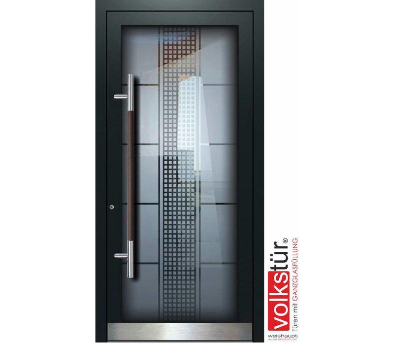 Weishaupt Aluminium Ganzglas Haustür Modell Entra Line 5315