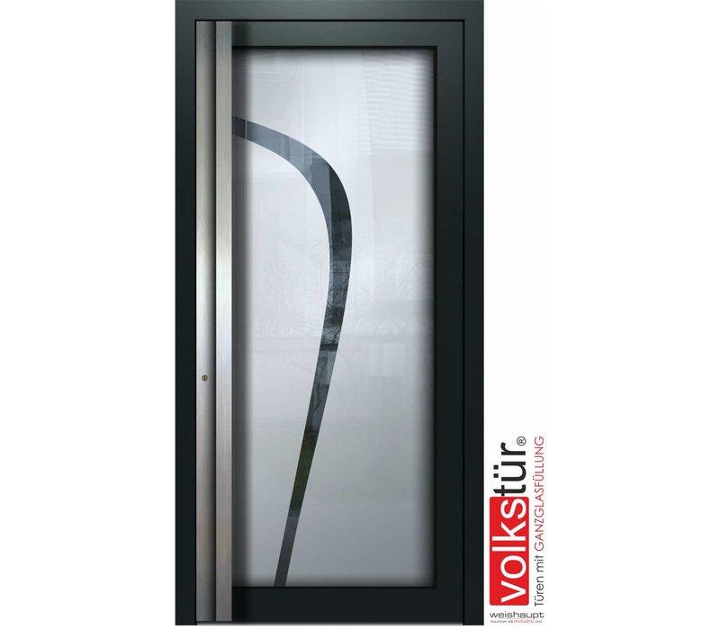 Weishaupt Aluminium Ganzglas Haustür Modell Entra Line 5316