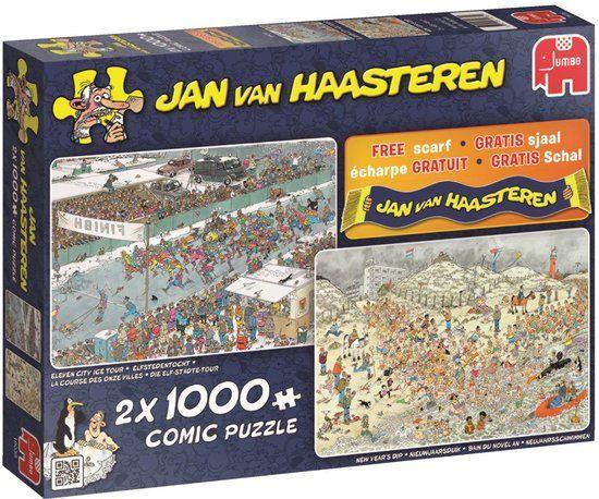 Jan van Haasteren Puzzels Jumbo Jan van Haasteren Winter Legpuzzel 2x 1000 stukjes