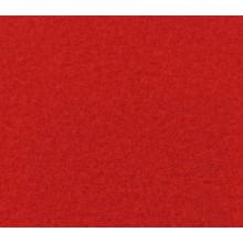Flachfilz Teppich ziegelrot