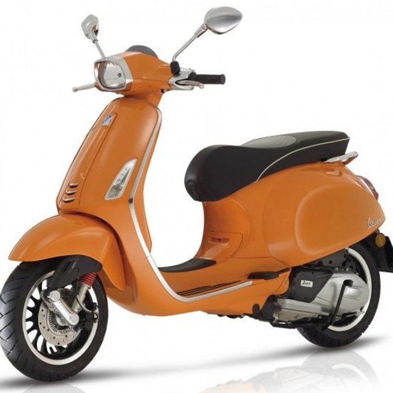 vespa vespa sprint 4t 50 orange tfi on wheels. Black Bedroom Furniture Sets. Home Design Ideas