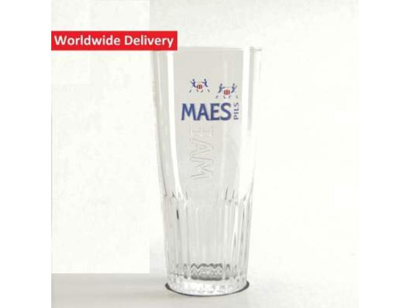 G Maes Pils Beer Glass