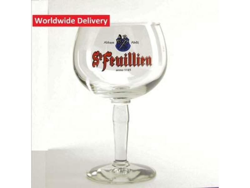 G St Feuillien Beer Glass