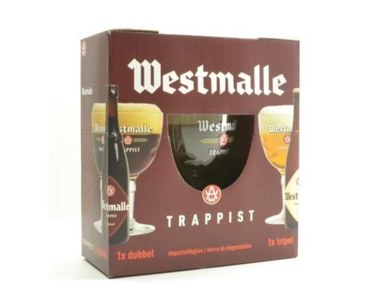 C Westmalle Bier Geschenk (2x33cl + gl)