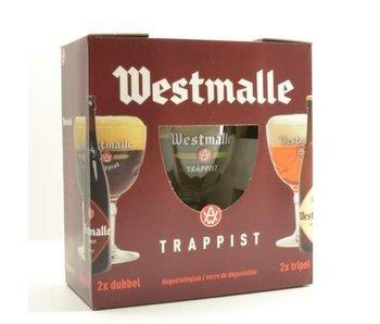 Westmalle Bier Geschenk (4x33cl + gl)