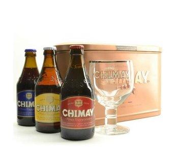 Coffret cadeau Chimay (3x33cl + gl)