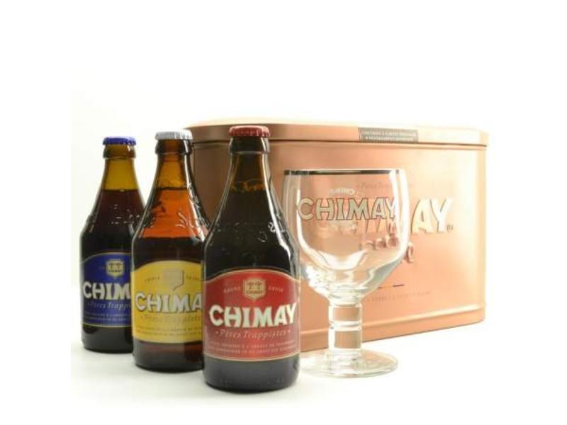 C Chimay Bier Geschenk (3x33cl + gl)