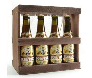 Pauwel Kwak Bier Geschenk (4x33cl + Doppel glass)