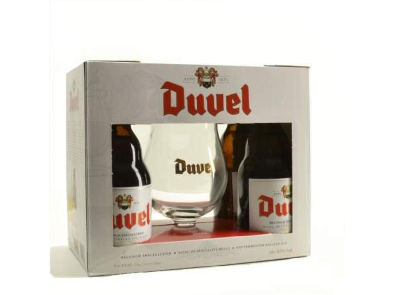 C Duvel Bier Geschenk (4x33cl + gl)