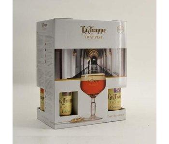 Coffret cadeau La Trappe (4x33cl + gl) (NL)