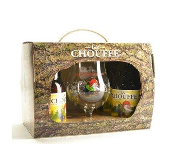 Coffret cadeau La Chouffe (4x33cl + gl)