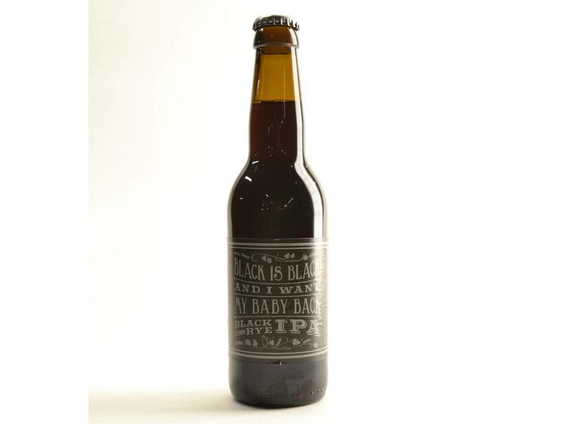 A3 Black is Black and I want my baby back Black Rye IPA - 33cl