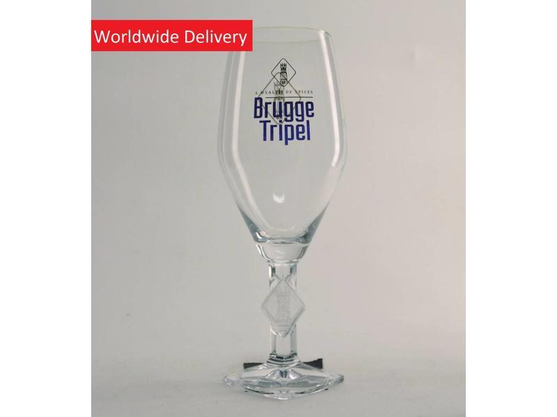 G Brugge Tripel Beer Glass